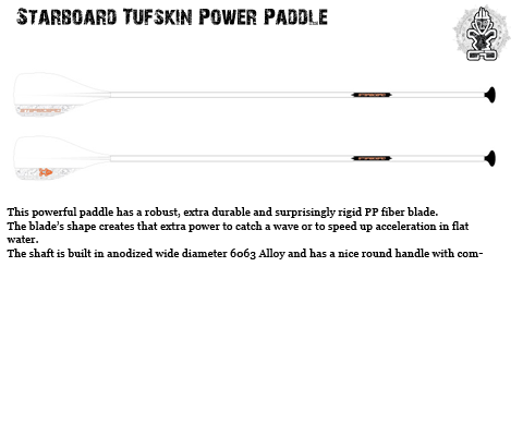 Starboard Tuffskin Power Paddle